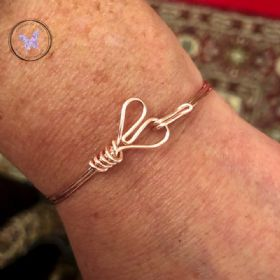 Rose Gold Copper Heart Bangle